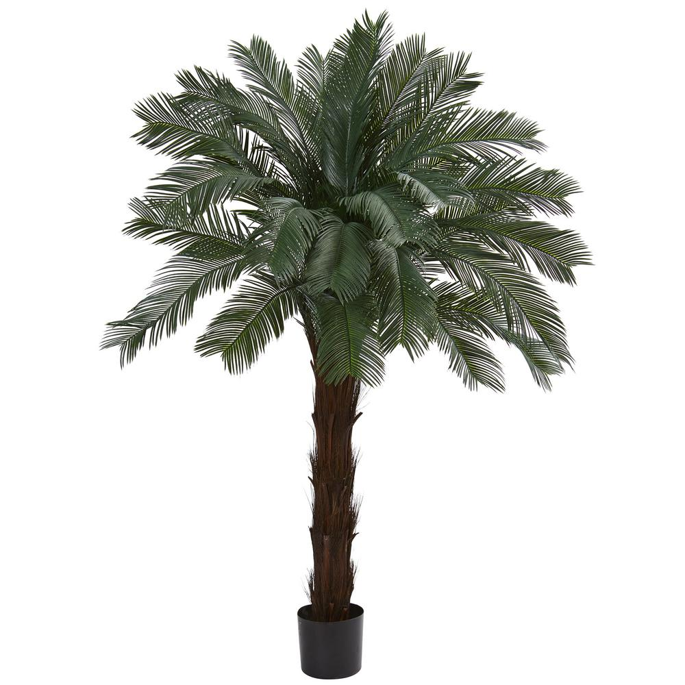 Nearly Natural 6 Ft Uv Resistant Indooroutdoor Cycas Artificial