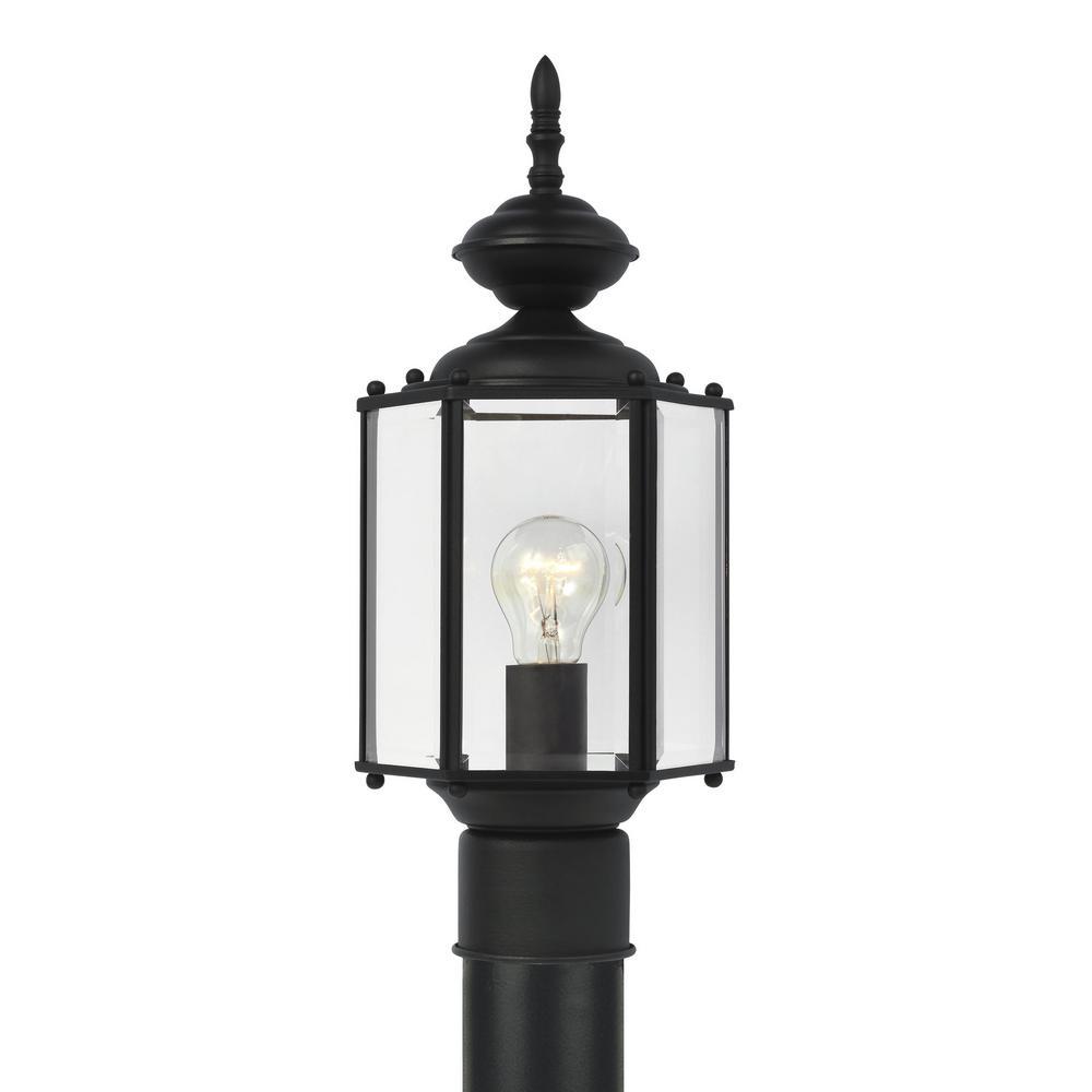 Classico 1-Light Outdoor Black Post Top