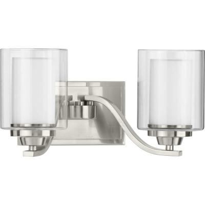 Kene 2-Light Brushed Nickel Bath Light