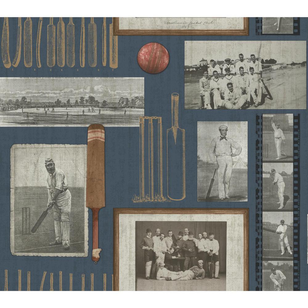 York Wallcoverings, Inc Spirit of the Game Wallpaper by York Wallcoverings,