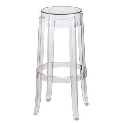29.5 in. Clear Bar Stool