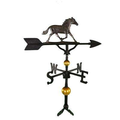 32 in. Deluxe Swedish Iron Horse Weathervane
