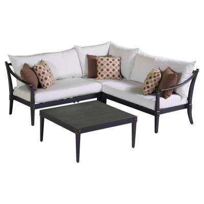Astoria 4 Piece Patio Corner Sectional And Conversation Table ...