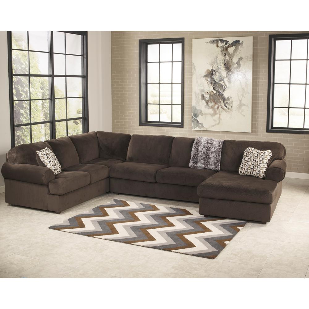 Ashley Furniture Sectionals: Flash Furniture Signature Design By Ashley Jessa Chocolate
