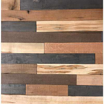 Shiplap Plank 0.5 in. H x 3.5 in. W x 1 ft. - 3 ft. L Mixed Wood Wall Planks (20 sq. ft. / case)