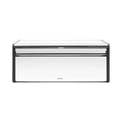 Brabantia Fall Front Bread Box, Brilliant Steel
