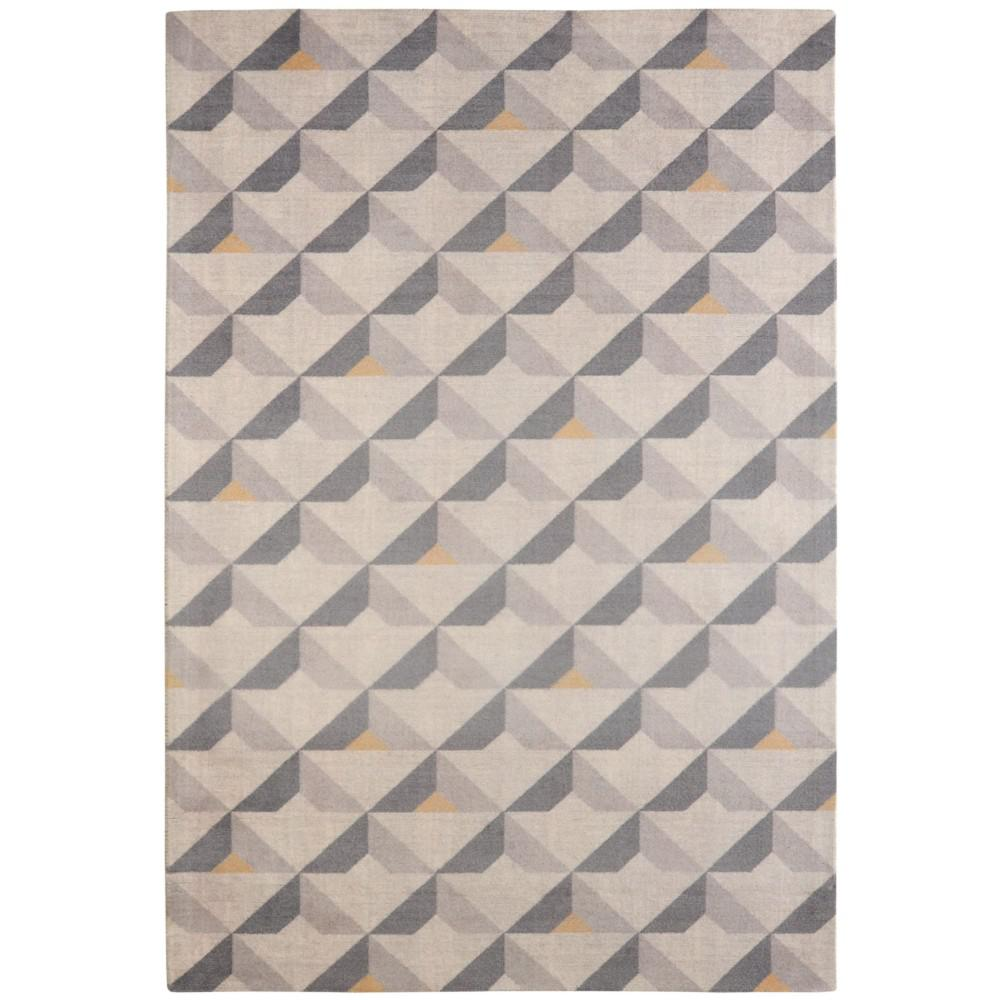 Shop Audrey Gray Mid Century Modern Area Rug: Rugsmith Diorite Mid-Century Modern Geometric Grey 7 Ft. 6