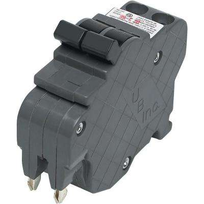 New UBIF Thin 15 Amp 1 in. 2-Pole Federal Pacific Stab-Lok Type NC Replacement Circuit Breaker
