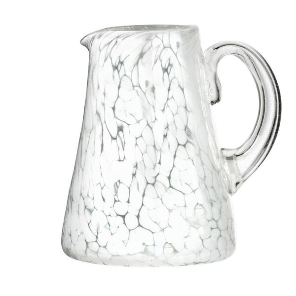 Amici Home Carmen 80 oz. White Glass Pitcher with Opaque 7MCR044R