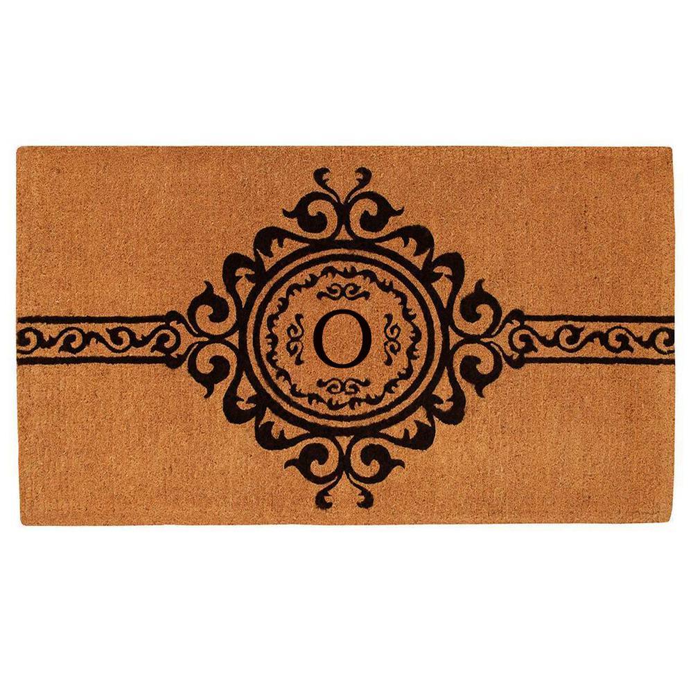 Garbo Monogram Door Mat, Extra-Thick 36 in. x 72 in. (Let...