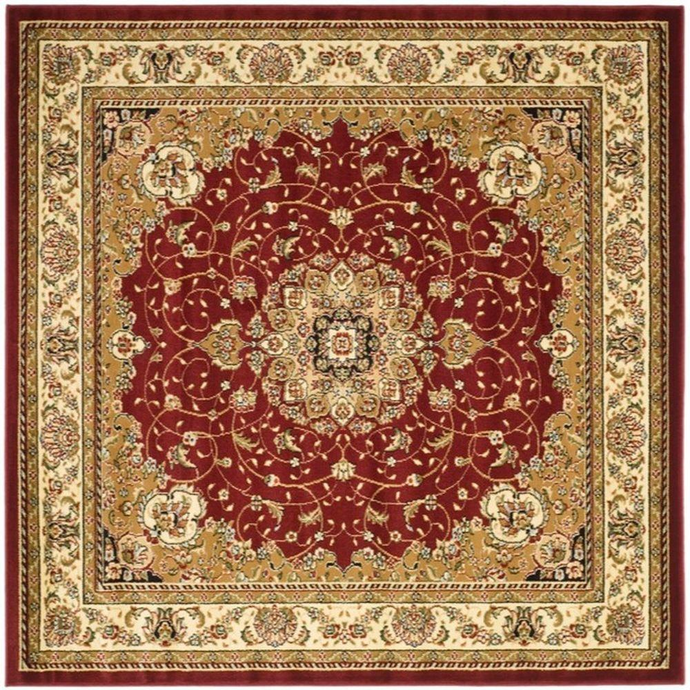 Safavieh Lyndhurst Red Ivory 8 Ft X 8 Ft Square Area Rug