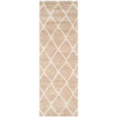 Montreal Shag Beige/Ivory 2 ft. 3 in. x 11 ft. Runner