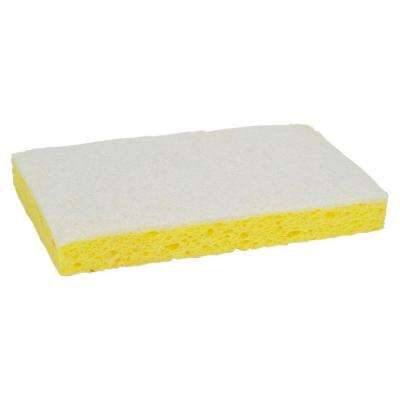 0.7 in. x 3.6 in. x 6.1 in. Yellow, White Light Duty Scrubbing Sponge (20/Box)