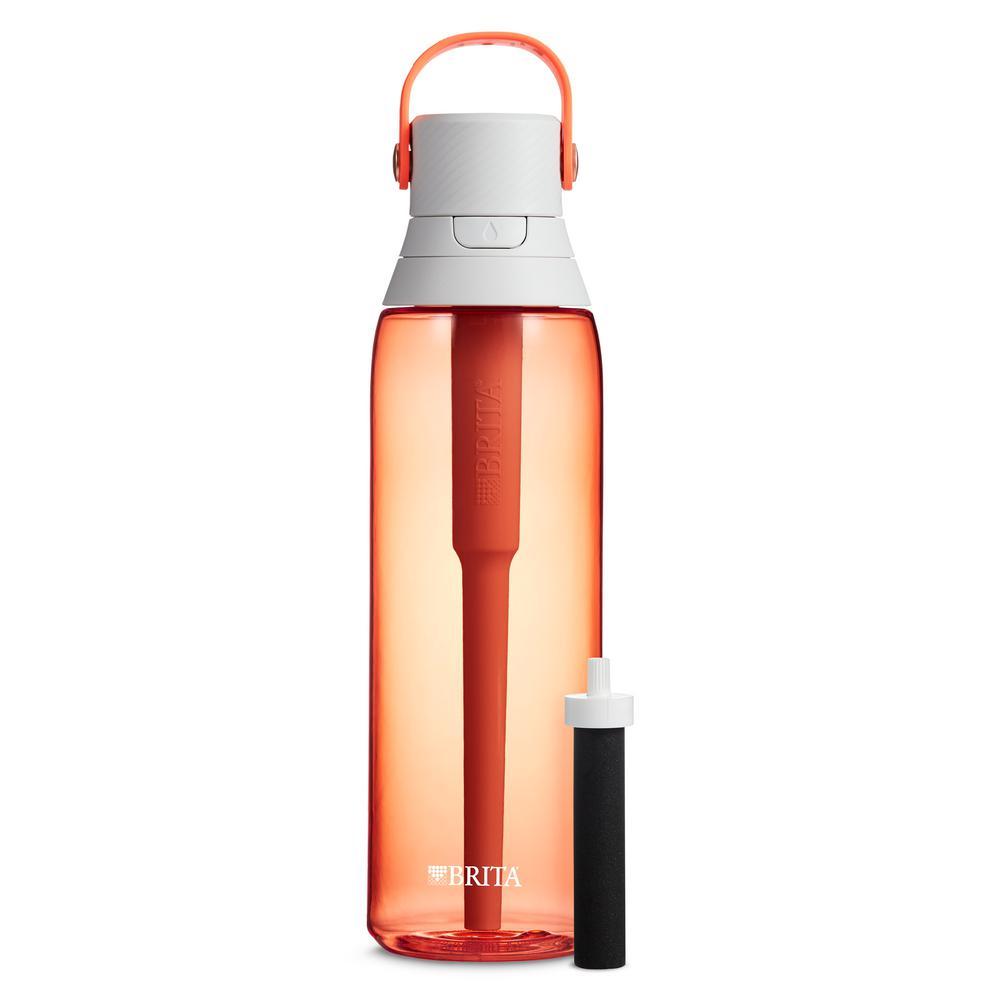 Brita Premium 26 oz. Coral Filtering Water Bottle, BPA Free