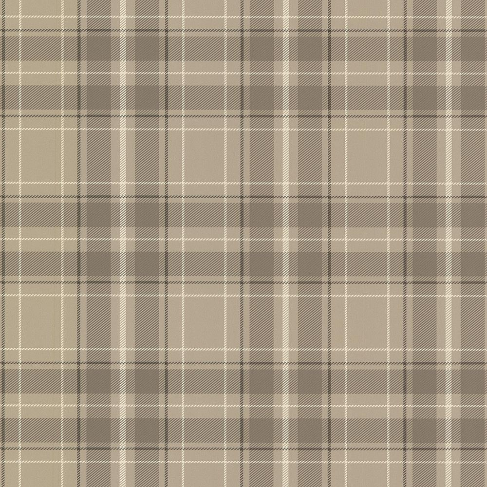Beacon House 56 4 Sq Ft Caledonia Grey Plaid Wallpaper