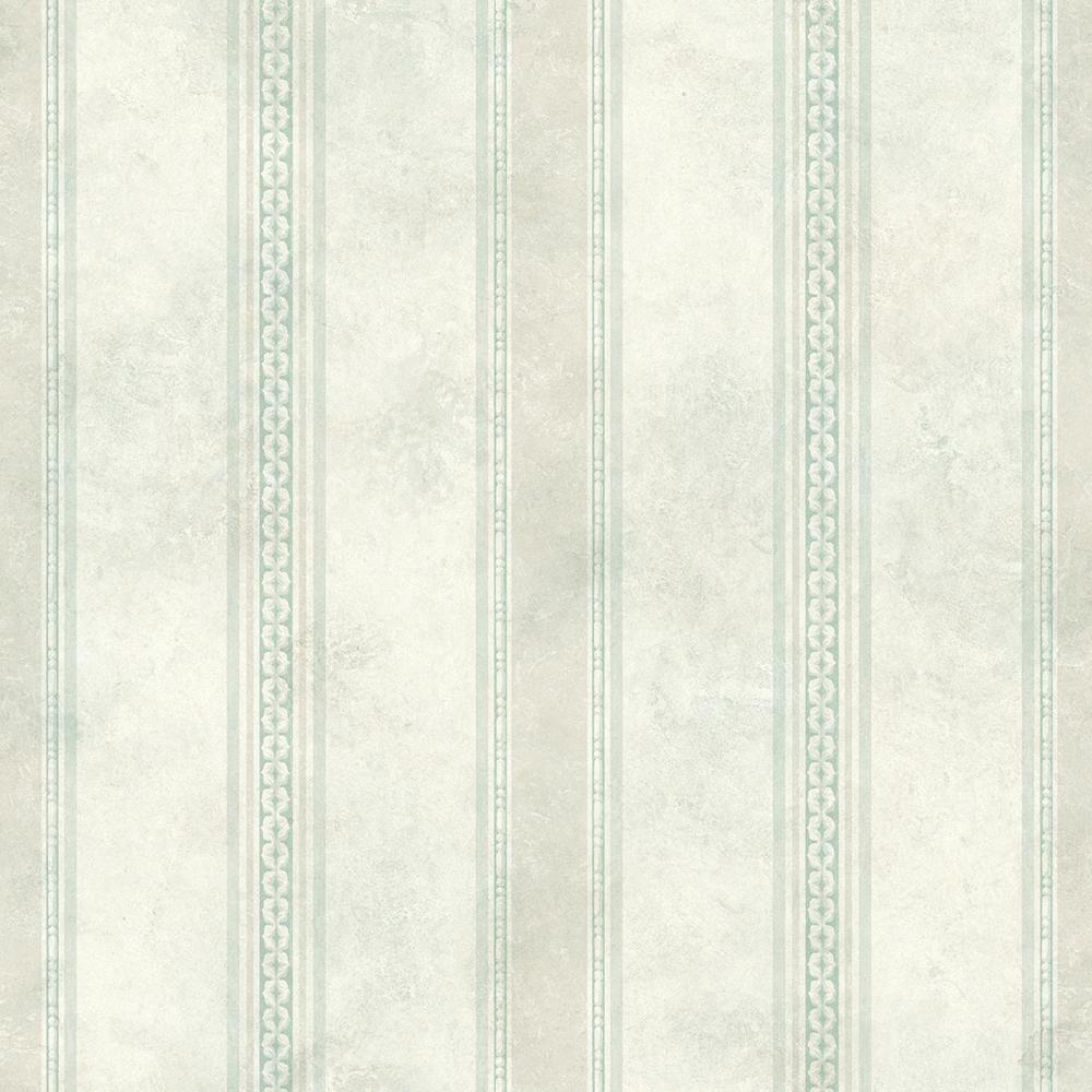 Tuscan Blue Stripe Wallpaper Sample