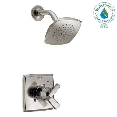 Ashlyn 1-Handle Pressure Balance Shower Faucet Trim Kit in Stainless (Valve Not Included)