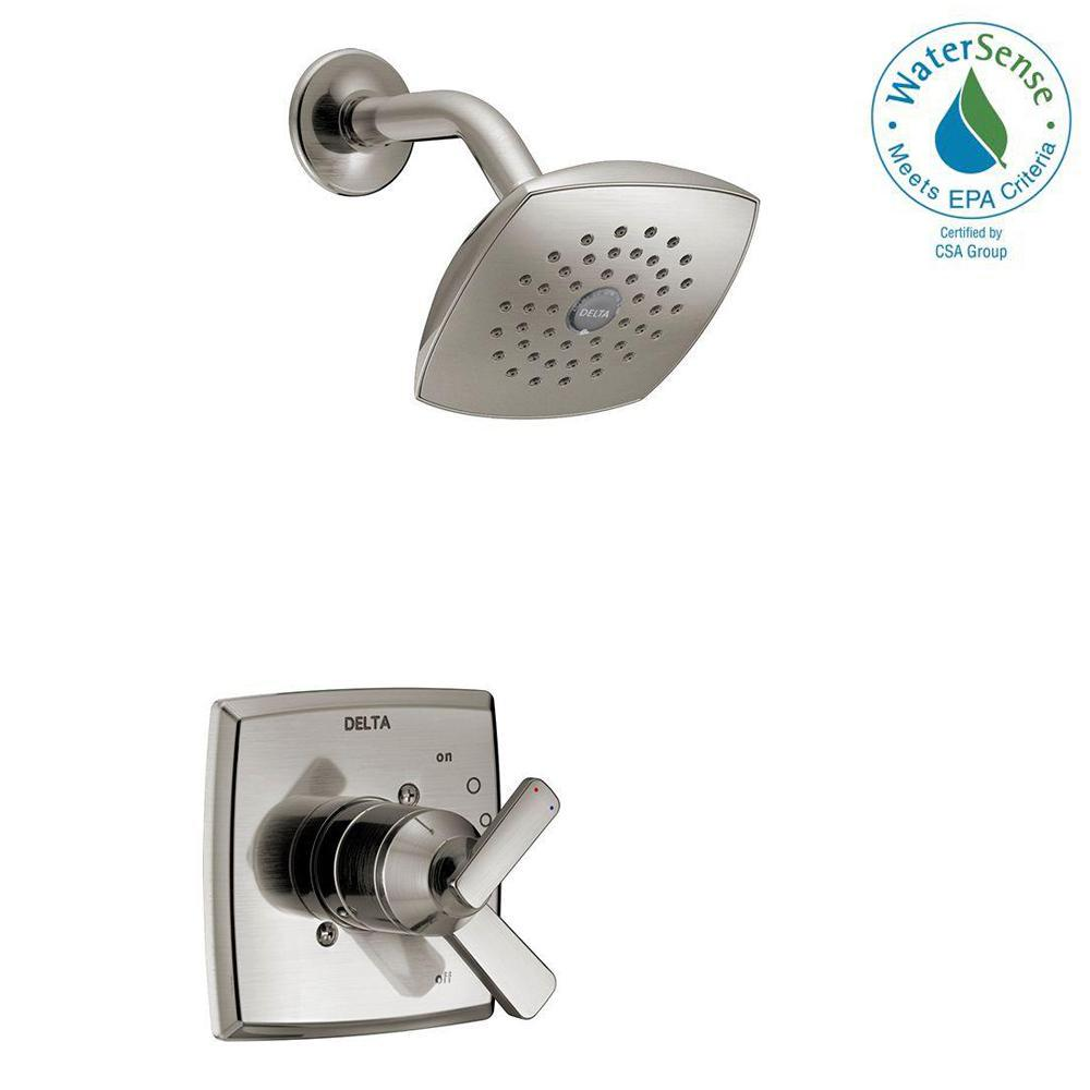 Ashlyn 1-Handle Pressure Balance Shower Faucet Trim Kit in Stainless (Valve