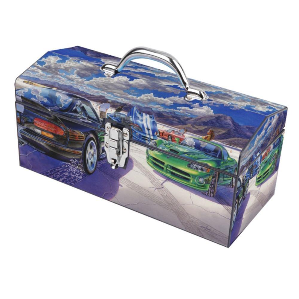 Sainty International 16 in. Dry Lake Snakes Art Tool Box