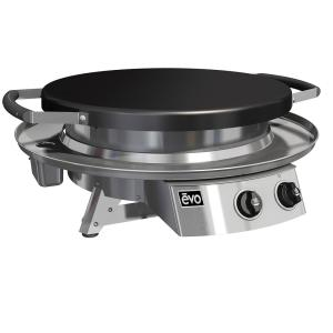 Evo Professional Tabletop 2-Burner Propane Gas Grill in Stainless Steel with... by Evo