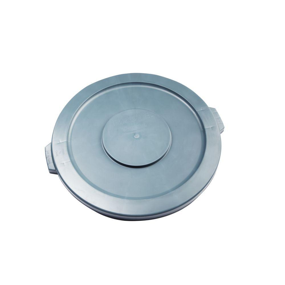 Gray Round Trash Can Lid