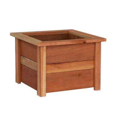 22 in. Square Redwood Planter Box