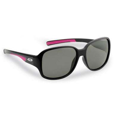 Pearl Polarized Sunglasses in Black Frame with Smoke Lens