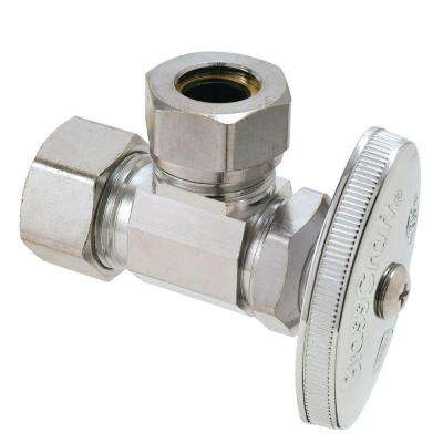 1/2 in. Nominal Compression Inlet x 7/16 in. and 1/2 in. Slip-Joint Outlet Multi-Turn Angle Valve