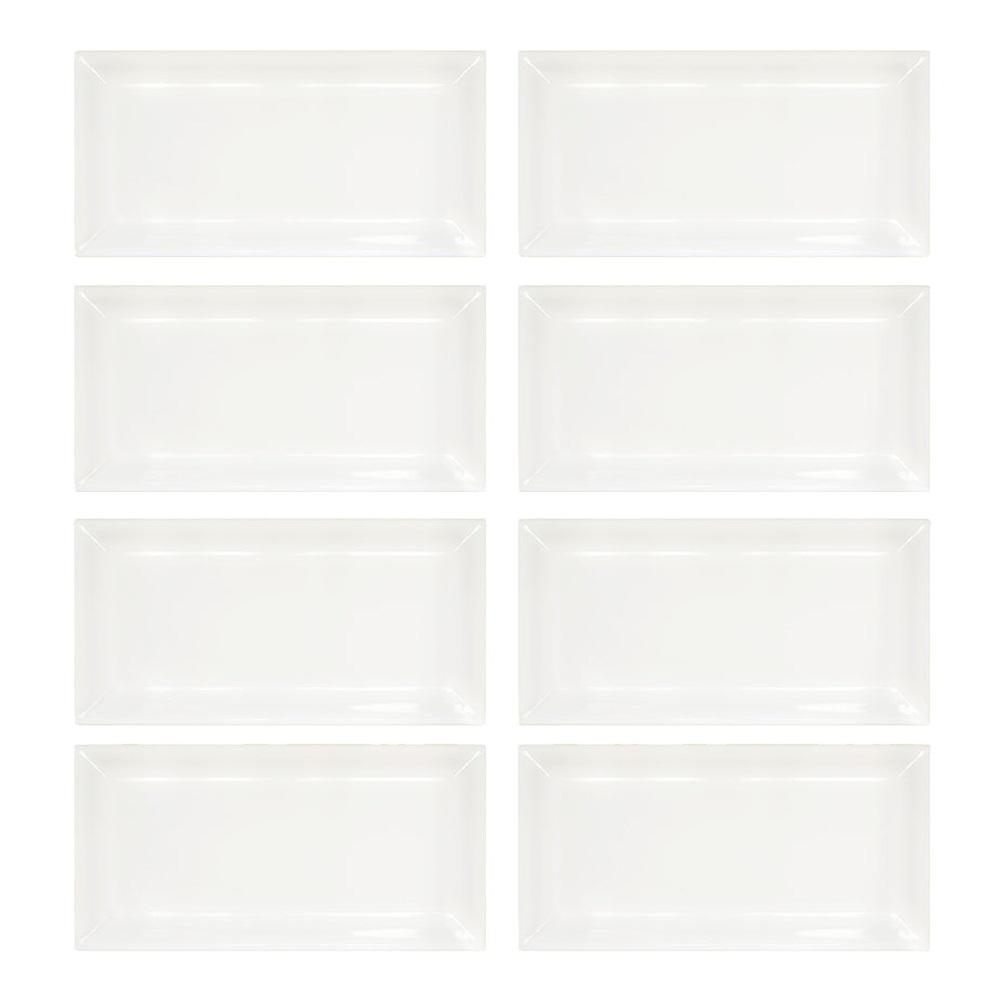 Jeffrey Court Allegro Beveled 3 in. x 6 in. x 8 mm Ceramic Wall Tile (1-Pack/8-Pieces/1 sq. ft.)