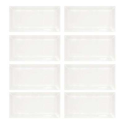 Allegro Beveled 3 in. x 6 in. x 8 mm Ceramic Wall Tile (1-Pack/8-Pieces/1 sq. ft.)