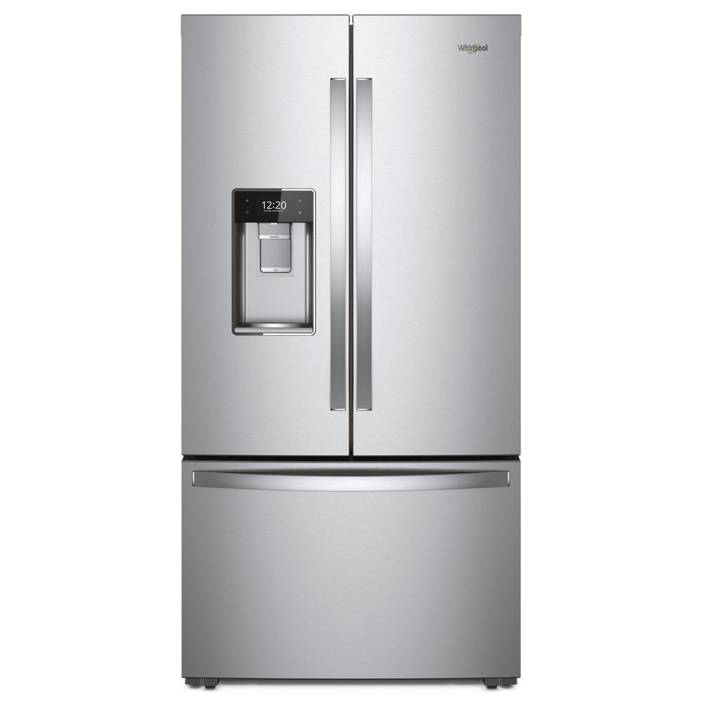 Whirlpool 24 cu. ft. Smart French Door Refrigerator in Fingerprint Resistant Stainless Steel, Counter Depth