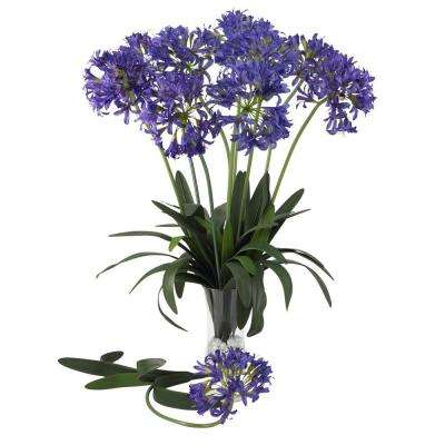 29 in. H Purple African Lily Stem (Set of 12)