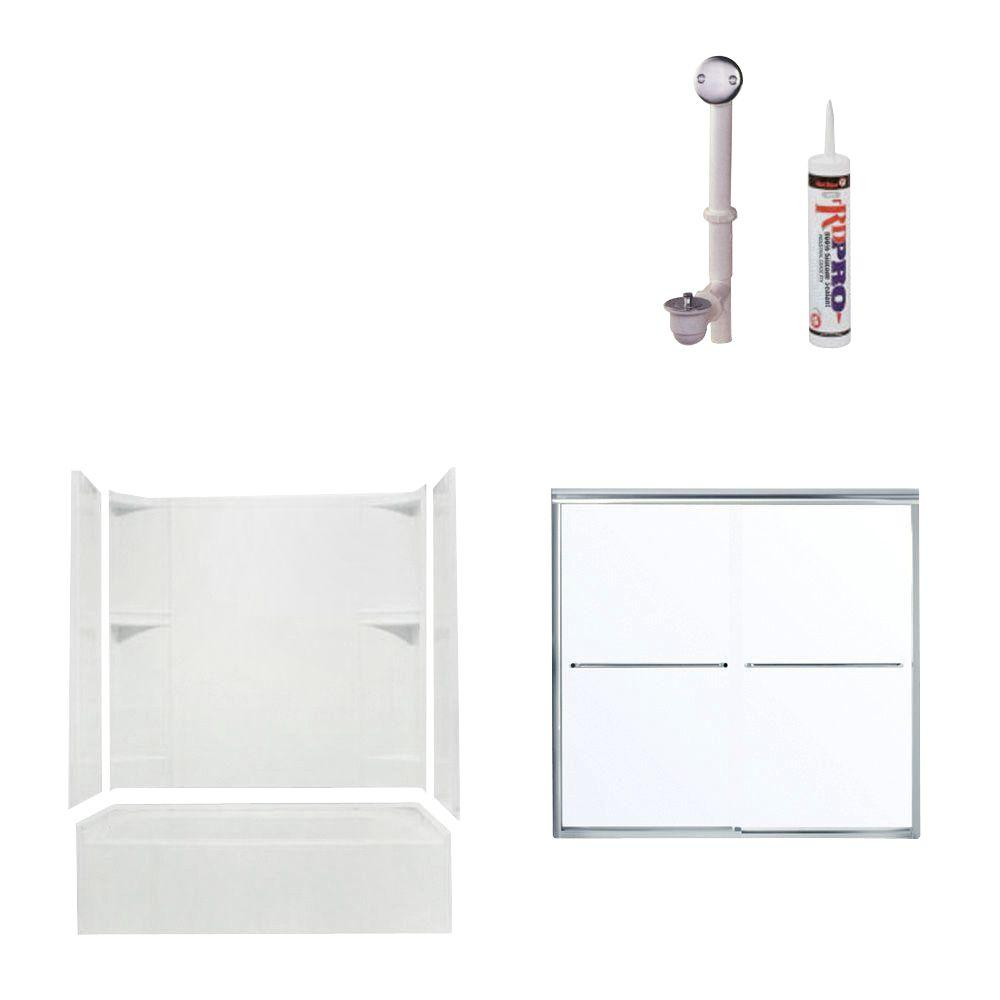 STERLING Accord Bathtub Kit with Right-Hand Drain with Chrome Trim in White-DISCONTINUED