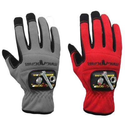 Extra-Large High Dexterity Gloves with (1) Removable Magnet (2-Pair)