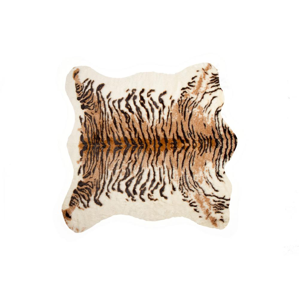 Luxe L 100 Faux Fur Tiger 4 25 Ft X 5 Cowhide Rug