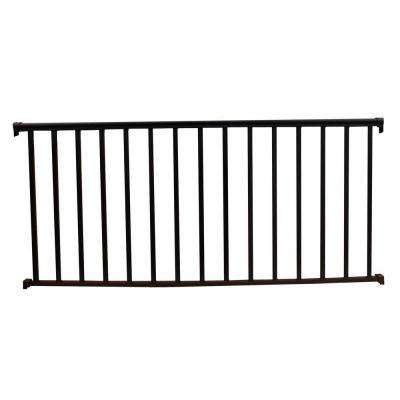 6 ft. x 42 in. Textured Black Aluminum Baluster Railing Kit