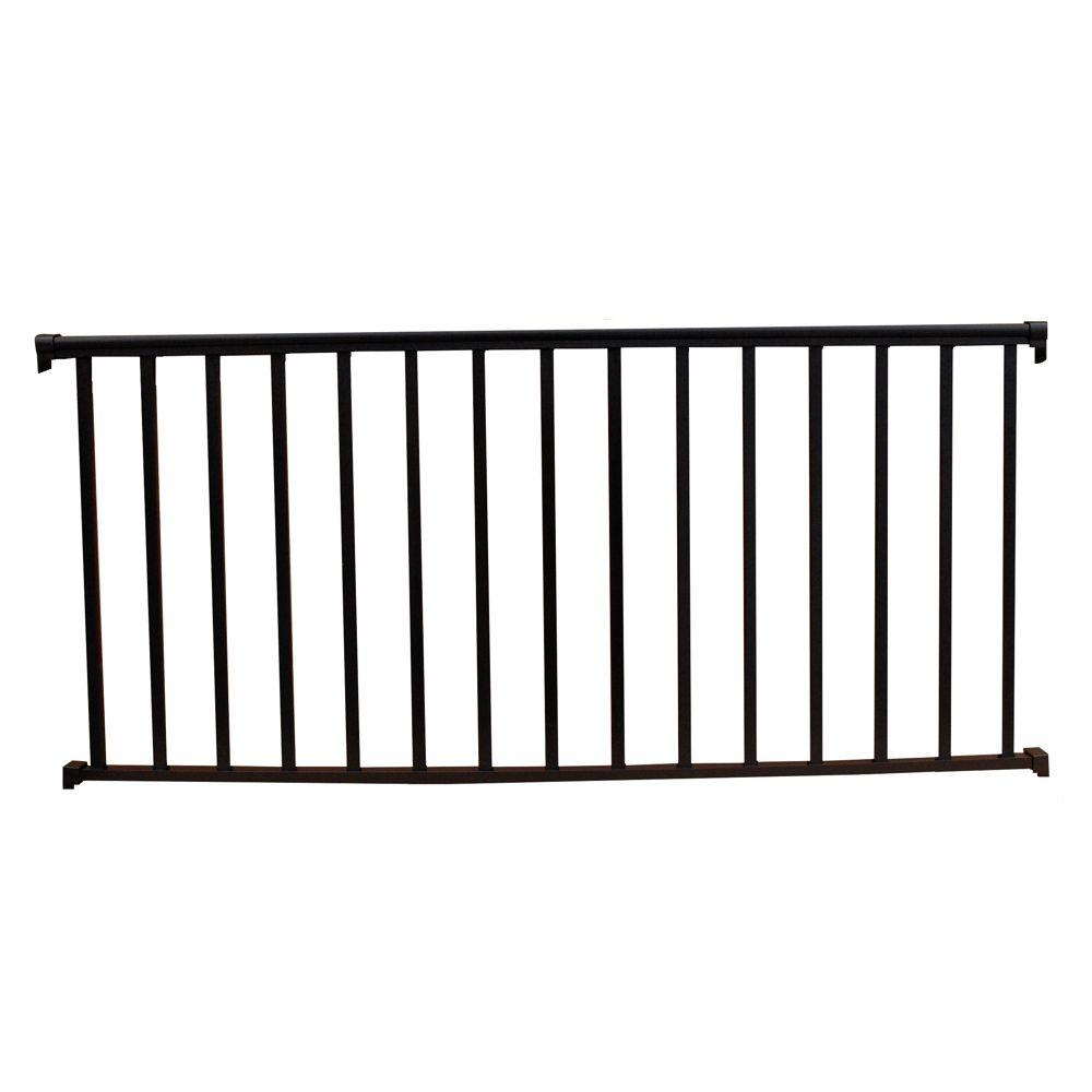 8 ft. x 36 in. Textured Black Aluminum Baluster Railing Kit