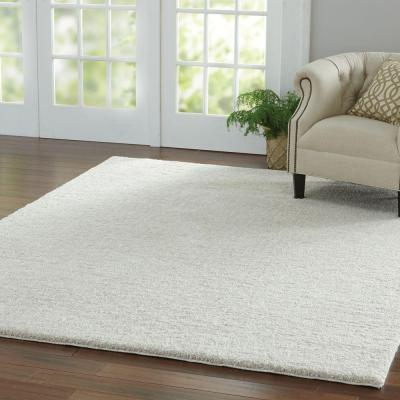 Ethereal Shag Cream Beige 8 ft. x 8 ft. Square Indoor Area Rug