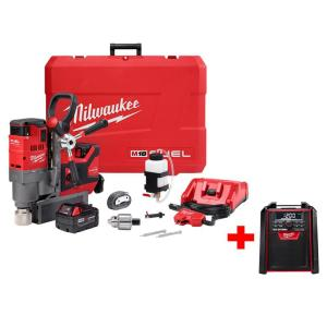 Milwaukee M18 FUEL 18-Volt Cordless Lithium-Ion Brushless 1-1/2 inch Lineman Magnetic Drill Kit with Free M18... by Milwaukee