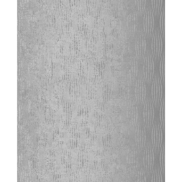Kalix Silver Wave Paper Strippable Wallpaper (Covers 56.4 sq. ft.)