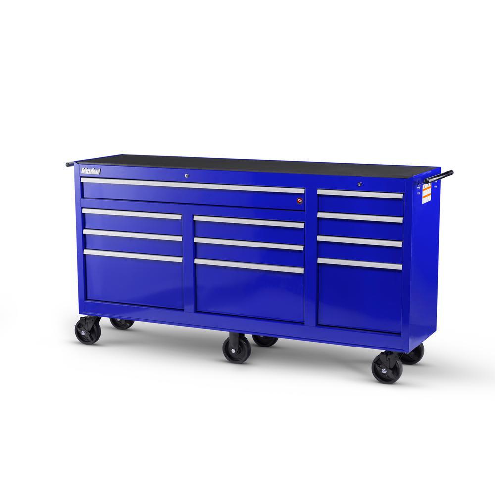 Workshop Series 73 in. 11-Drawer Cabinet, Blue