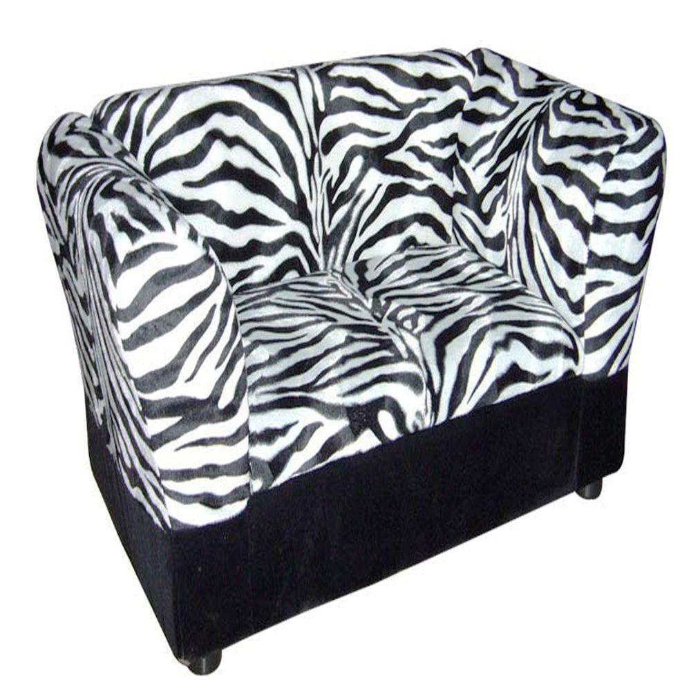 ORE International 16.75 In. H Zebra Sofa Bed With Storage