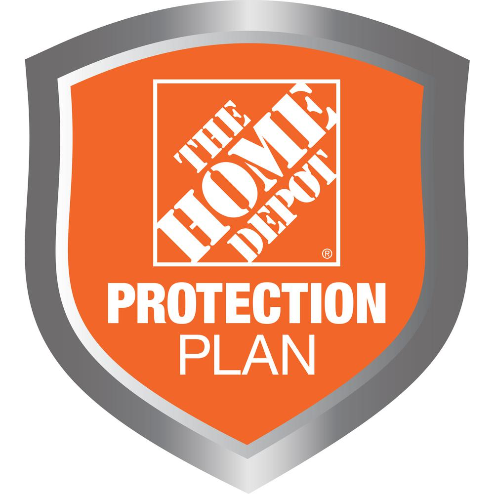 The Home Depot 2-Year Replace Protect Plan Plumbing $25 to $49.99 Get peace of mind for all of your home-improvement products with The Home Depot Protection Plan. If your product experiences a covered failure, you will be reimbursed with a Home Depot e-Gift Card for the full purchase price of your product, plus tax. After you purchase your Home Depot Protection Plan, a separate confirmation email will be sent to you. This confirmation will include the terms and conditions and provide instructions on how to file a claim should your product experience a covered failure.