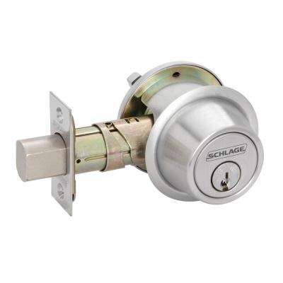 BC500 Series Bright Chrome Double Cylinder Deadbolt Universal Fit