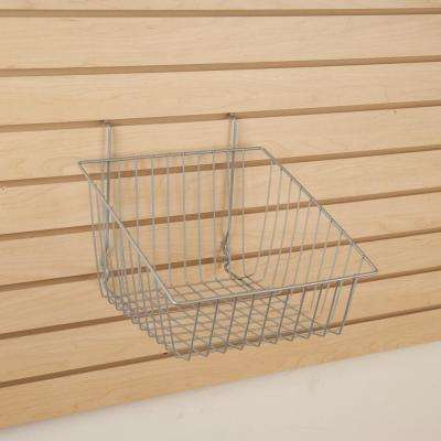 12 in. W x 12 in. D x 8 in. H Chrome Sloped Front Basket