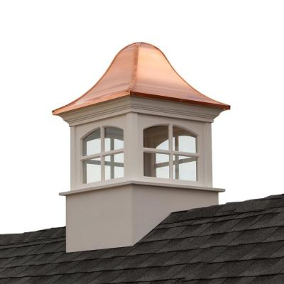 Greenwich 36 in. x 36 in. x 56 in. Vinyl Cupola with Copper Roof