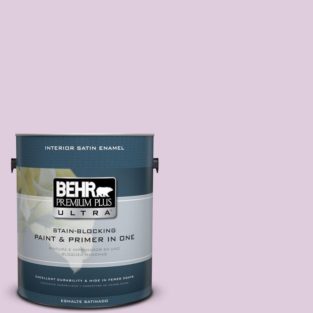 BEHR Premium Plus Ultra 1-gal. #M110-2 Cassia Buds Satin Enamel Interior Paint