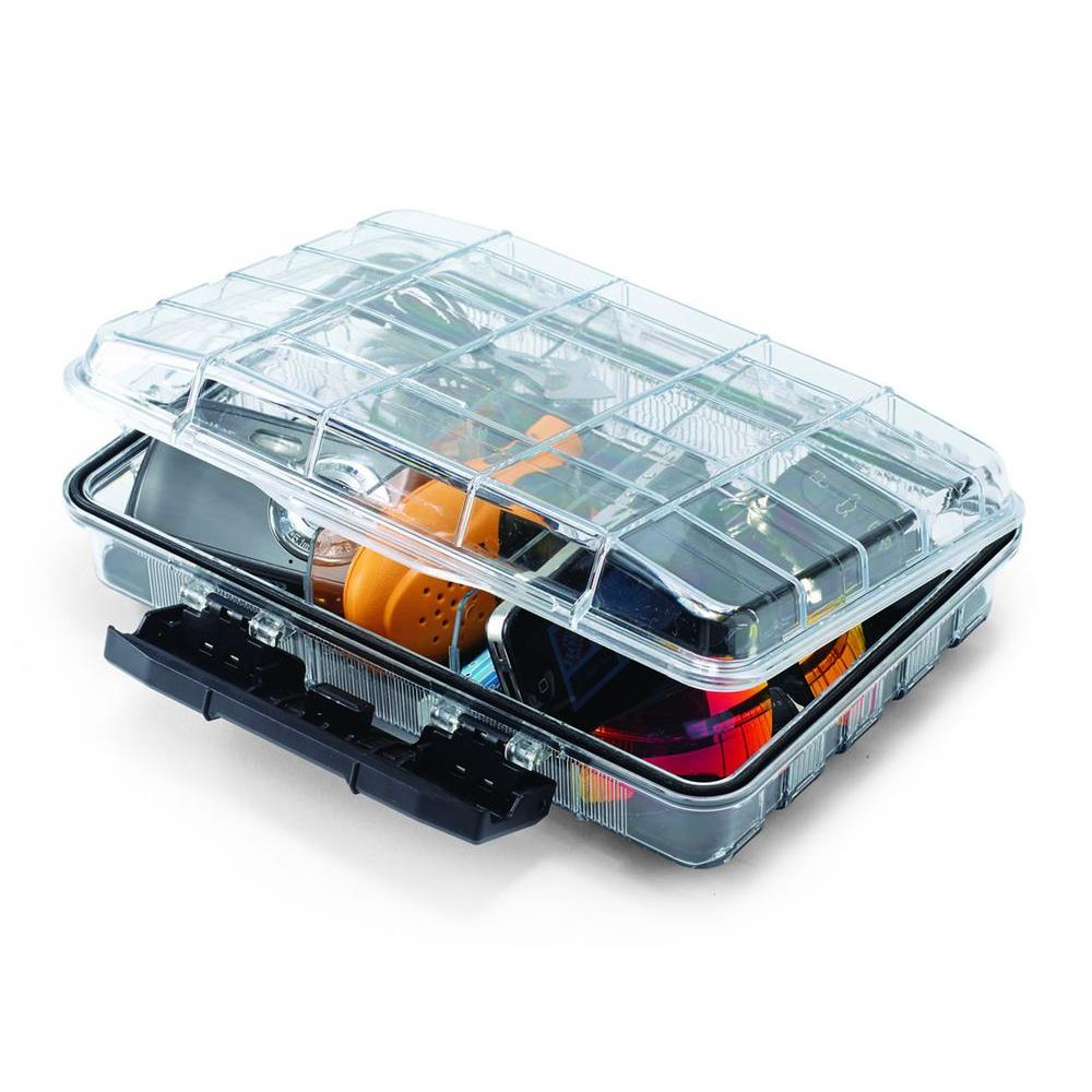 Husky 11 in 32 Compartment Polycarbonate Storage Bin Small Parts