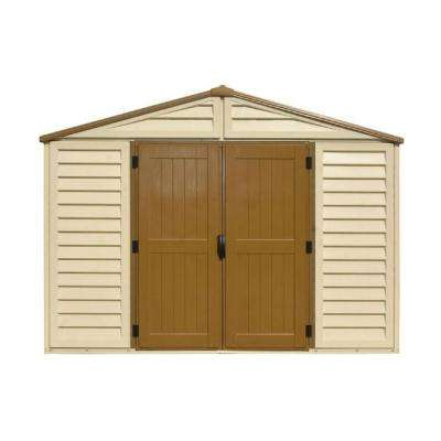 WoodBridge Plus 10.5 ft. x 10.5 ft. Vinyl Storage Shed