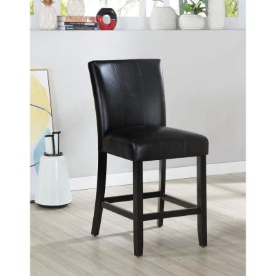 Asmita 25.75 in. Black Counter Height Chairs (Set of 2)